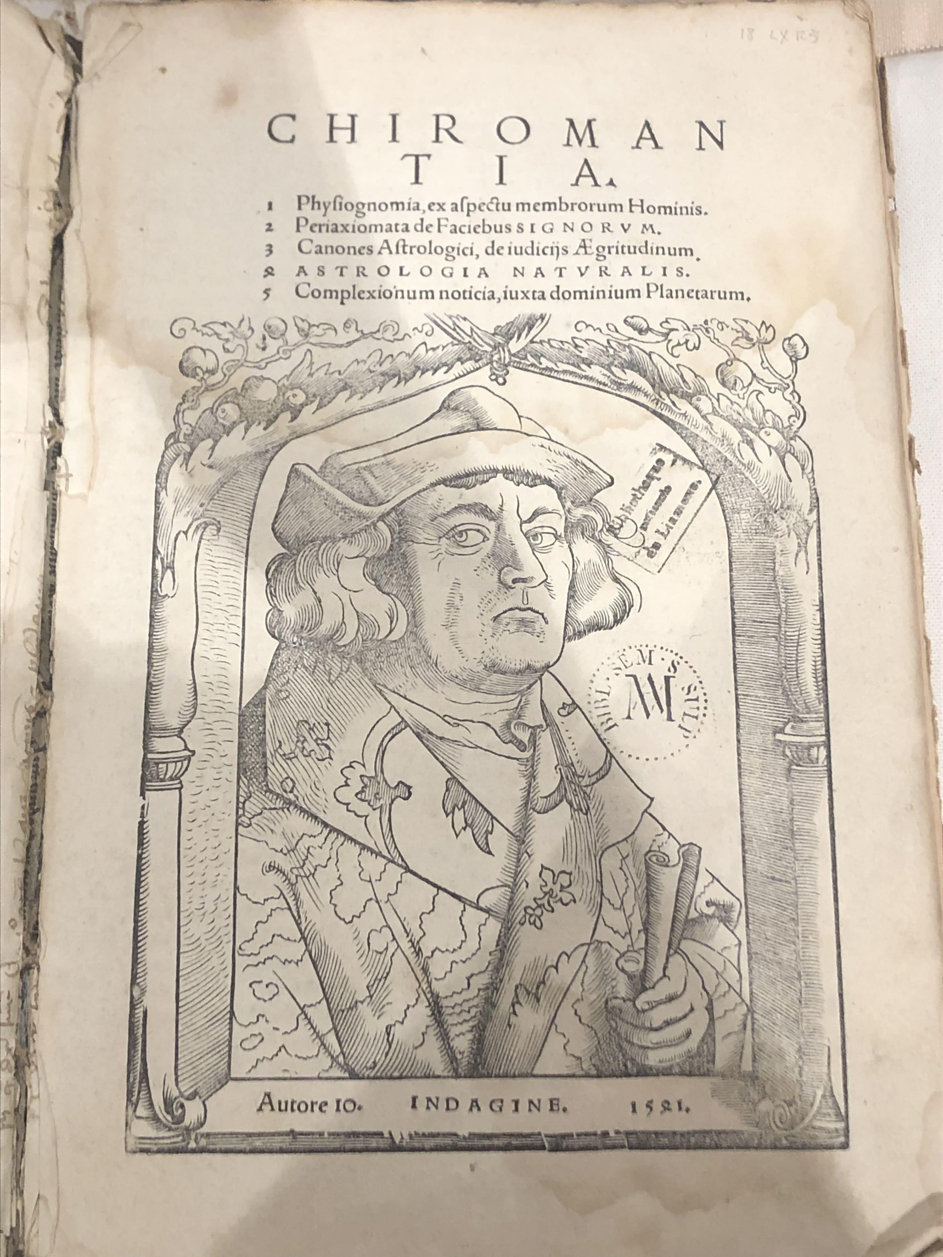Chiromantie - Bibliothèque Fesch