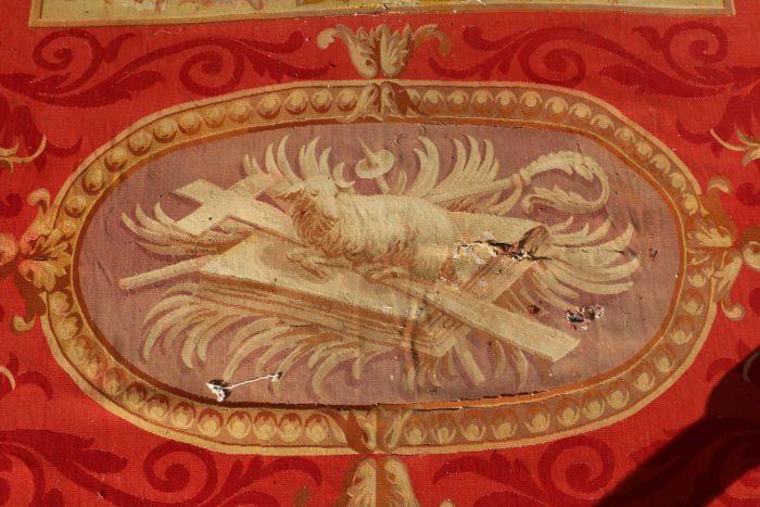 12 Grand tapis d'Aubusson de la Cathédrale de Bazas belle Main